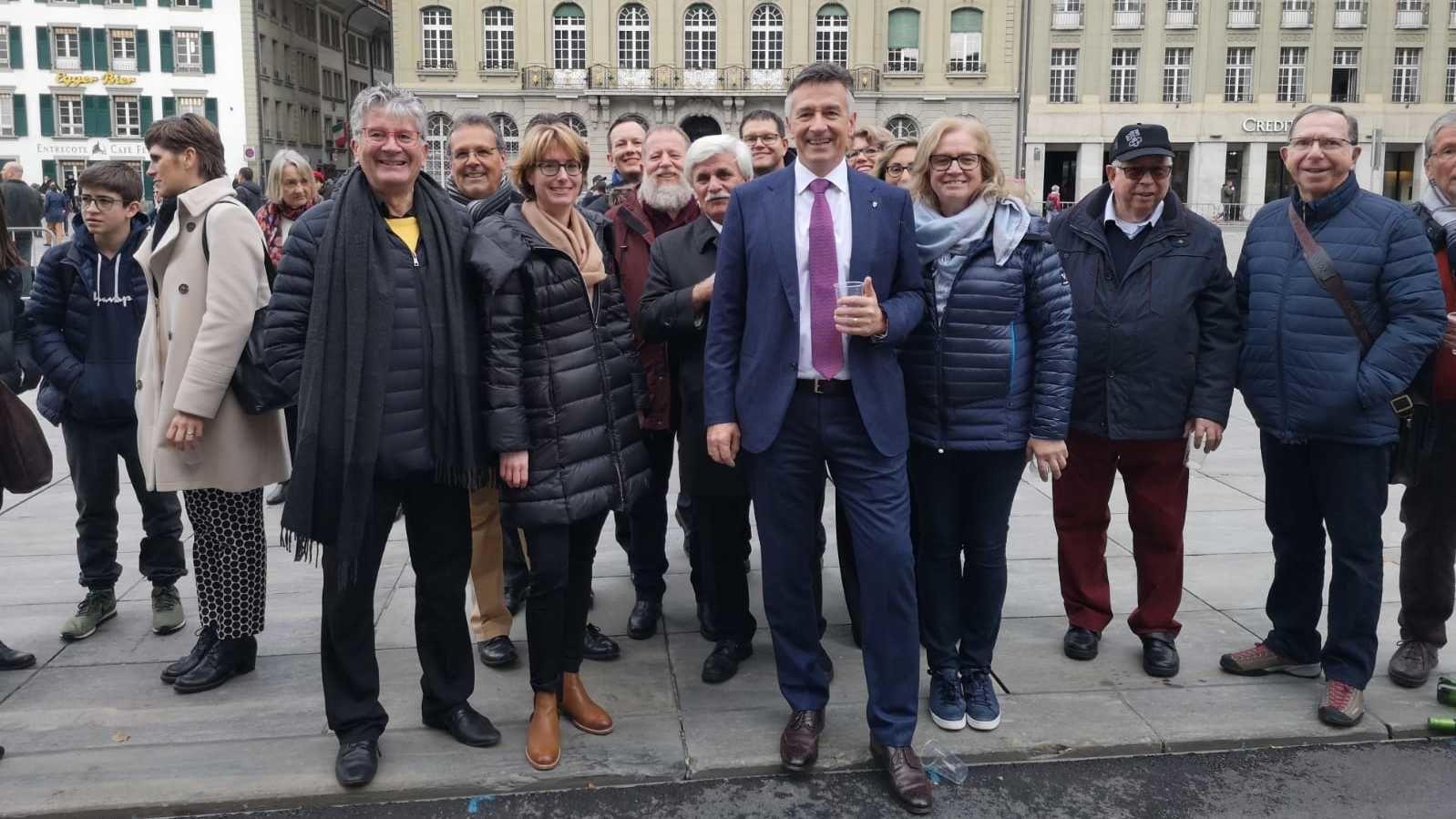 #BRW2018 Fandelegation - mit Hans Wicki auf dem Bundesplatz